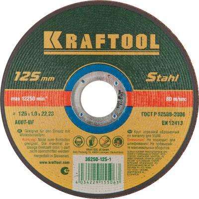 Круг отрезной KRAFTOOL 36250-125-1.0 абразивный для УШМ 125x1.0x22.23мм по металлу цены