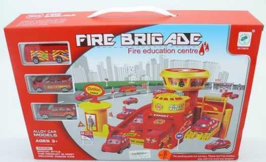 Купить Пожарная станция Shantou Gepai TH8378 красный B1060628, Игрушечные машинки