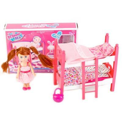 Купить Игровой набор Shantou КУКЛА С КРОВАТЬЮ, пластмасса, Классические куклы и пупсы