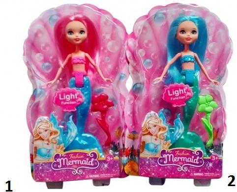 Купить Кукла Shantou Fashion Mermaid светящаяся, пластик, металл, Классические куклы и пупсы