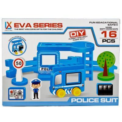 Конструктор Shantou Полицейский участок 16 элементов danik tm обучающая игра виртуальный учитель полицейский участок english