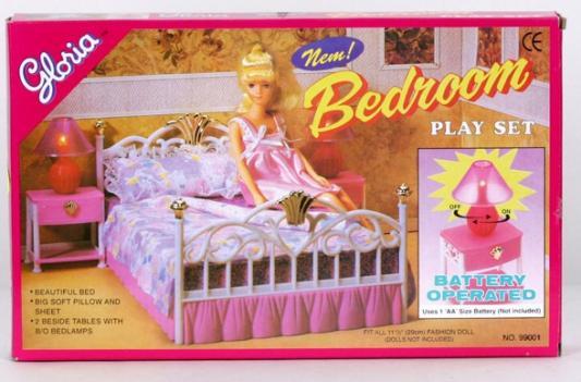 Набор мебели Shantou Набор мебели для кукол с аксессуарами Спальня