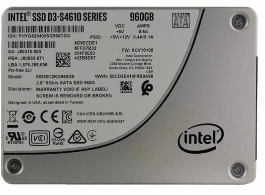 Intel SSD D3-S4610 Series (960GB, 2.5in SATA 6Gb/s, 3D2, TLC), 963347 2pcs hdd ssd sata 3 0 iii 6gb s straight right angle hard disk drive data cable 42cm for asus gigabyte msi motherboard