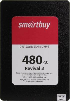 Твердотельный накопитель SSD 2.5 480Gb Smartbuy Revival 3 SATA3,550/380Mbs, 3D TLC, PS3111, 7mm (SB480GB-RVVL3-25SAT3) твердотельный накопитель ssd 2 5 240gb smartbuy revival 3 sata3 550 450mbs 3d tlc ps3111 s11 7mm sb240gb rvvl3 25sat3