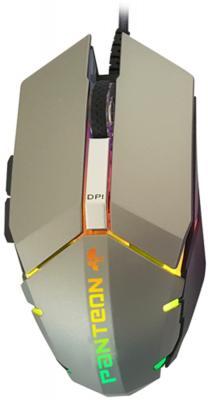 Проводная игровая программируемая мышь Jet.A Panteon MS63 серебристая (500-2000dpi,6пр.кн,LED,USB) azio atom проводная игровая мышь игровая мышь jedi выжить rgb курица мышь