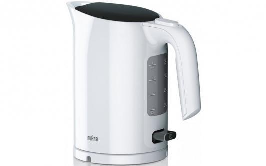 Чайник электрический Braun WK 3000 WH 2200 Вт белый 1 л пластик чайник zimber zm 10853 2200 вт 1 7 л пластик белый розовый