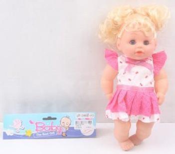 КУКЛА МОРГАЕТ В ПАК. 30*28СМ в кор.2*72шт, Shantou, пластик, Классические куклы и пупсы  - купить со скидкой