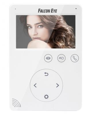 Видеодомофон Falcon Eye FE-VELA дисплей 7 TFT; сенсорный экран; подключение до 2-х вызывных панелей и до 2-х видеокамер; интерком; графическое меню; видеодомофон falcon eye fe 70 capella dvr white дисплей 7 tft сенсорный экран подключение до 2 х вызывных панелей и до 2 х видеокамер адресный