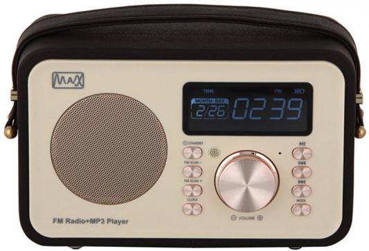 Радиоприемник MAX MR-350 Gold edition Дисплей с подсветкой, FM радио (87.5-108 МГц), MP3/WMA с USB/microSD, Часы/Будильник/Календарь. радиоприемник max mr 332 bluetooth fm радио mp3 wma с usb microsd li ion аккумулятор время работы более 8 часов цвет brown wood black