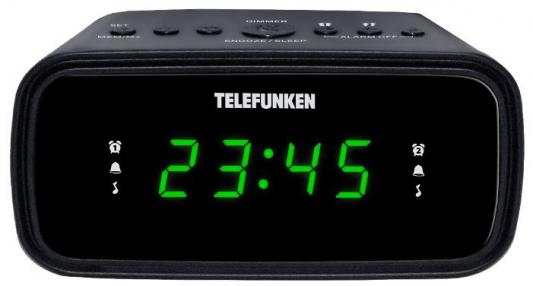 Часы с радиоприёмником Telefunken TF-1588 чёрный цена в Москве и Питере
