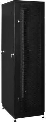 """Шкаф 19"""" напольный 18U 600x800, дверь перфорированная, чёрный, 3ч, NT PRACTIC2 MP18-68 B"""