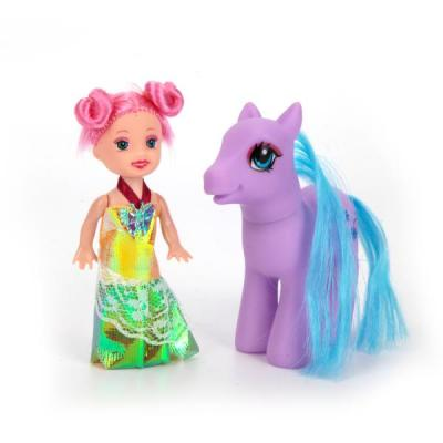Игровой набор Shantou Кукла с пони 11 см в ассортименте цена