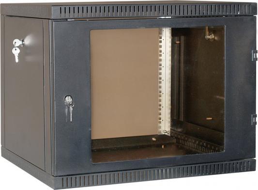 Шкаф 19 настенный 15U 600x650, дверь стекло-металл, чёрный, NT WALLBOX 15-66 B шкаф tlk настенный 19 15u дверь стекло 530х732х600мм цельносварной серый