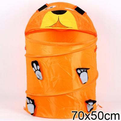 Купить КОРЗИНА ДЛЯ ИГРУШЕК МЕДВЕДЬ ТКАНЬ ПВХ R1002 В ПАК. 50*45СМ в кор.50шт, Shantou Gepai, оранжевый, ткань, Ящики и корзины для игрушек