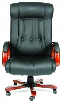 Офисное кресло Chairman 653 NL черный (7001203) офисное кресло chairman 659 terra черный матовый тем орех
