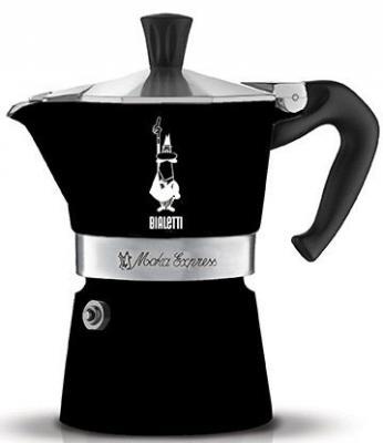 Кофеварка гейзерная Bialetti Moka Express Nera 6 порций алюминий 4953 гейзерная кофеварка bialetti moka express 3 порции 1162