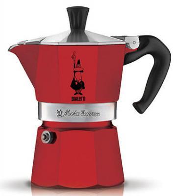 Кофеварка гейзерная Bialetti Moka Express Rossa 3 порции алюминий 4942 гейзерная кофеварка bialetti moka express 3 порции 1162
