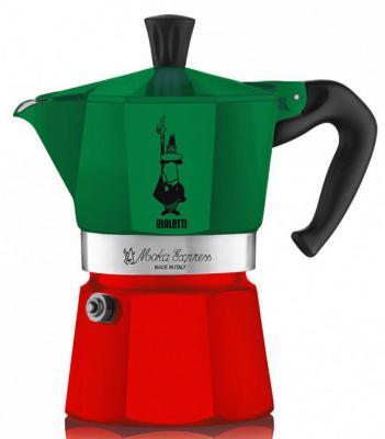 Кофеварка гейзерная Bialetti Moka Express Tricolore 6 порций алюминий 5323 газовые плиты