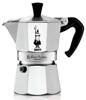 Кофеварка гейзерная Bialetti Moka Express 3 порции алюминий 1162 гейзерная кофеварка bialetti moka express 3 порции 1162