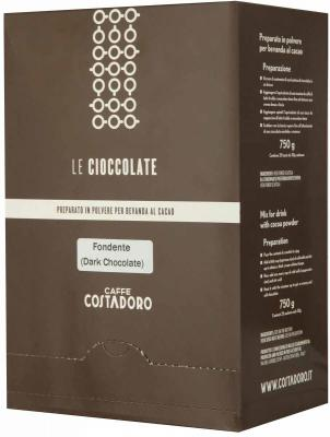 Растворимое какао COSTADORO Le Cioccolate Dark Chocolate 750 гр.