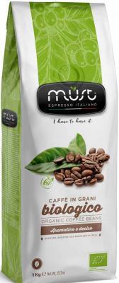 Кофе в зернах MUST Biologico 1000 грамм