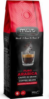Картинка для Кофе в зернах MUST Pure Arabica 500 грамм