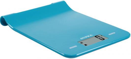 Весы кухонные электронные Supra BSS-4101 макс.вес:5кг голубой цена 2017