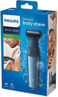 Картинка для Триммер Philips BG3015/15 синий/черный (насадок в компл:3шт)