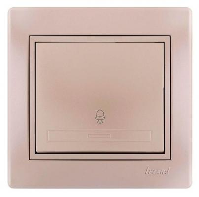Кнопка LEZARD 701-3030-103 серия скр.проводки Мира звонка жемчужно-белый перламутр