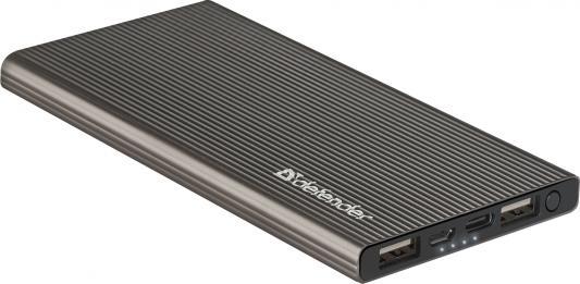 Внешний аккумулятор Power Bank 5000 мАч Defender ExtraLife Fast темно-серый 83627 аккумулятор внешний kreafunk tocharge темно серый