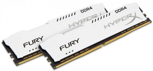 Оперативная память 16Gb (2x8Gb) PC4-23400 2933MHz DDR4 DIMM CL17 Kingston HyperX Fury White HX429C17FW2K2/16 память ddr4 kingston hyperx hx424c15fr2 8