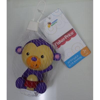 Игрушка для купания для ванны ИГРАЕМ ВМЕСТЕ Обезьянка Fisher-Price 8.7 см игрушка для купания для ванны играем вместе львенок fisher price 8 2 см