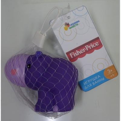 Игрушка для купания для ванны ИГРАЕМ ВМЕСТЕ Бегемотик 6.4 см игрушка для купания для ванны играем вместе львенок fisher price 8 2 см