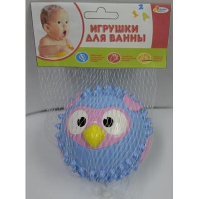 Игрушка для купания для ванны ИГРАЕМ ВМЕСТЕ Мячик-сова 8 см игрушка для купания для ванны играем вместе львенок fisher price 8 2 см