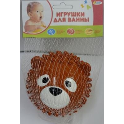 Игрушка для купания для ванны ИГРАЕМ ВМЕСТЕ Мячик-медведь 8 см игрушка для купания для ванны играем вместе львенок fisher price 8 2 см