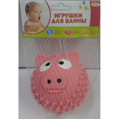 Игрушка для купания для ванны ИГРАЕМ ВМЕСТЕ Мячик - свинка 8 см игрушка для купания для ванны играем вместе львенок fisher price 8 2 см