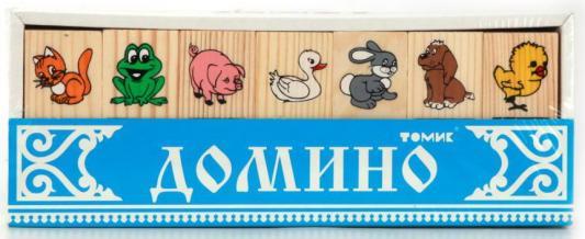 Настольная игра Томик домино ЖИВОТНЫЕ ЛЕСА журнал животные леса 43