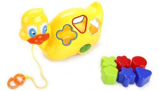 Каталка-утка Shantou Каталка-утка разноцветный пластик каталка tomy утка с яйцом в тележке