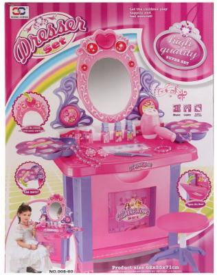 Набор игровой туалетный столик на бат., с аксесс. в кор. в кор.6шт пупсы с кроваткой с аксесс 661 18 в кор в кор 14шт