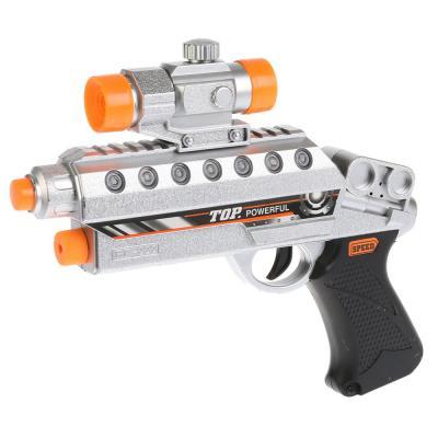 Купить Пистолет Shantou Gepai Super gun черный серый B864583, черный, серый, 4x23x20 см, для мальчика, Игрушечное оружие