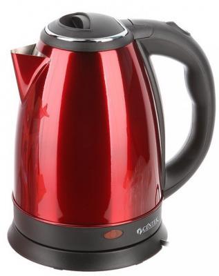 Чайник Centek CT-1068 2000 Вт чёрный красный 2 л нержавеющая сталь