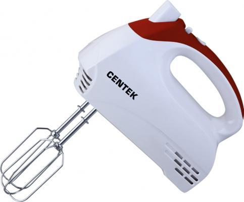 Миксер ручной Centek CT-1117 350 Вт белый вишня миксер стационарный centek ct 1105 320 вт белый серый