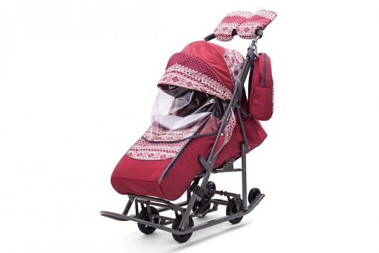цена на Санки-коляска Скандинавия, цвет бордо, Pikate