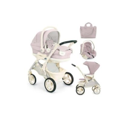 Купить Модульный сет Orso: люлька, прогулочный блок, автокресло-переноска и сумка, цвет 712 розовый, CAM, Сменные комплекты