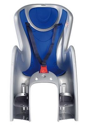 Велосипедное кресло OK Baby велосипедное кресло 732 argento/bluette 29, синий/серебристый серебристый, Аксессуары для детских велосипедов  - купить со скидкой