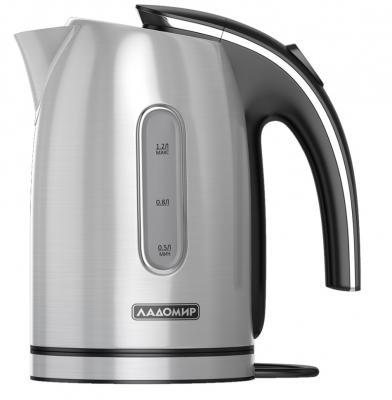 Чайник электрический Ладомир 102 2000 Вт серебристый 1.2 л нержавеющая сталь чайник электрический sinbo sk 7362 серебристый
