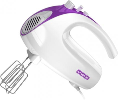 Миксер ручной Ладомир 606-7 150 Вт белый фиолетовый цена