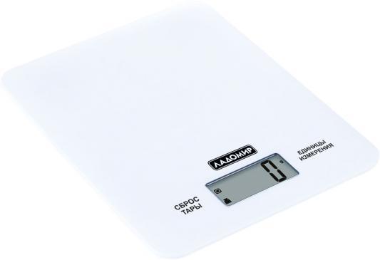 Весы кухонные Ладомир НА303 белый кухонные весы ладомир на303
