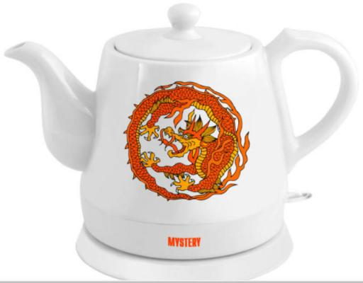 Чайник электрический MYSTERY MEK-1624 1500 Вт белый рисунок 1.2 л керамика