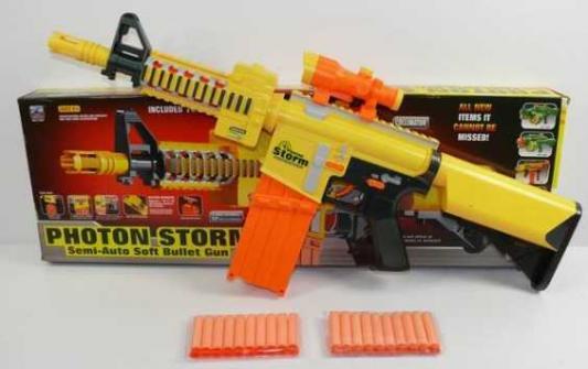 Купить Автомат Shantou Gepai 7005 желтый оранжевый B856741, оранжевый, желтый, 7x72x25 см, для мальчика, Игрушечное оружие